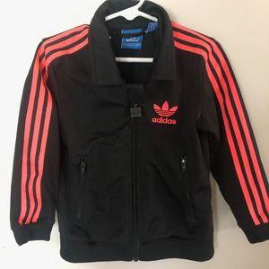 Hot pink & black Toddler track jacket | Size 2-3Y